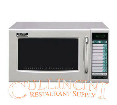Sharp 1000 Watt Commercial Microwave NSF Medium Duty 120 volt Model R21LVF
