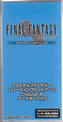 Final Fantasy Card Game Booster Chapter IV Sealed Box Japanese