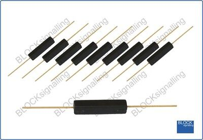 BLOCKsignalling RR1 Reed Relay Black Plastic Encapsulated Model Rail Railway