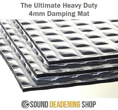 Silent Coat 4mm Extra Bulk Pack 23 Sheets Car Deadening Sound Proofing Mat