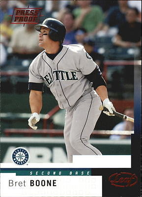 2004 Leaf Press Proofs Red #72 Bret Boone