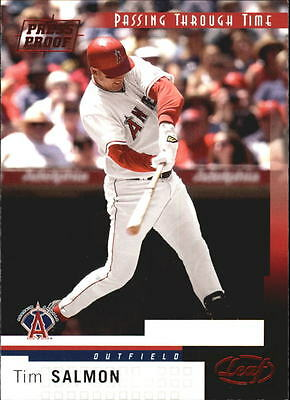 2004 Leaf Press Proofs Red #258 Tim Salmon PTT