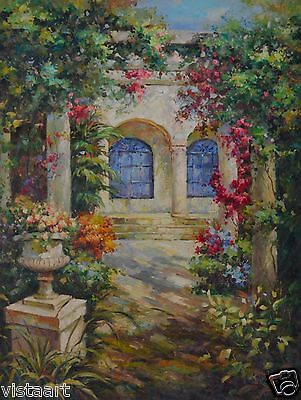 "Wall Art Hand Painted Oil on Canvas 36""x 48"" - Garden Home"