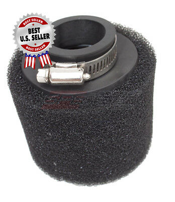 """Air Filter 42mm 1 5/8"""" Straight Black Racing Pod Style ~ US Seller."""