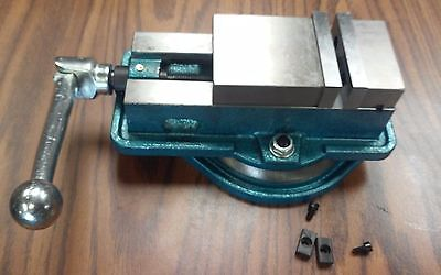 """3 ANG-LOCK MILLING MACHINE VISE w. swivel base #850-300-- NEW"