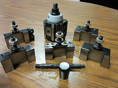 "6-12"" QUICK CHANGE TOOL POST-6PCS/SET-Piston TYPE #830A-532--new"