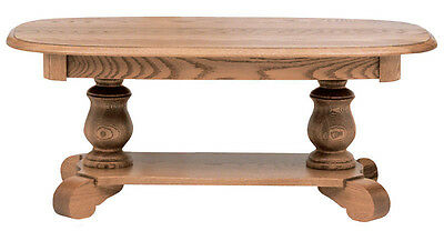 #635 Solid Oak Country Pedestal Coffee Table