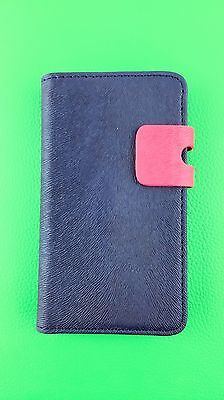 BLUE WALLET Plain Leather Case Phone Cover Samsung Galaxy S2 II GT-I9100