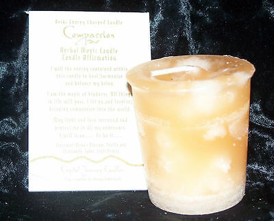 COMPASSION REIKI candles Crystal Journey CANDLES MAGICK Manifestation candle