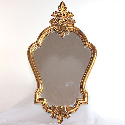Vintage French gilded wood Louis XV style mirror