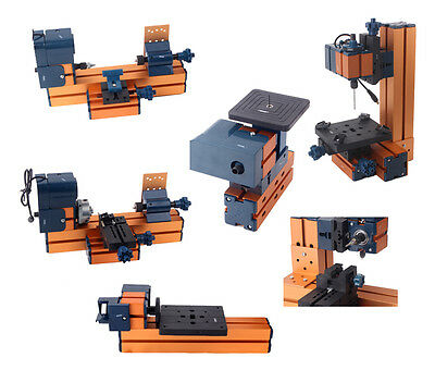 Mini Carpentry DIY Kit 6 in1 Woodworking Machine Lathe Milling Saw Drill Grinder