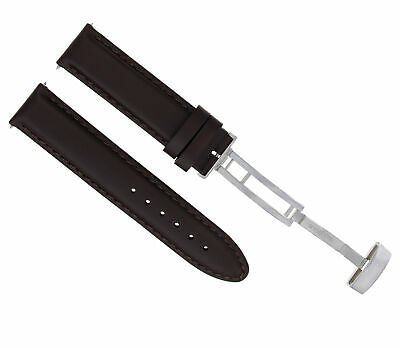 24Mm Smooth Leather Watch Band Pam Strap Deployment Clasp For 44Mm Panerai D/Bro