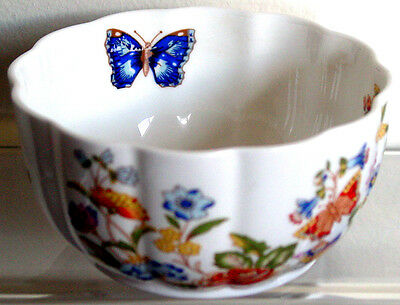 "AYNSLEY England FINE BONE China COTTAGE GARDEN ""VAR-I-ETE BOWL"" Retired Mint 4"""