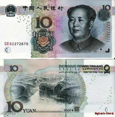 China 10 Yuan Mao Banknote Chinese Asia Paper Money Note UNC Currency Yuans