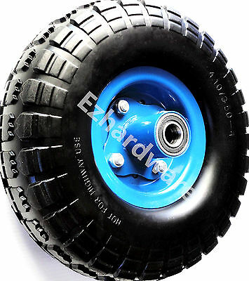 """10""""x3.5""""-4 Punch Proof Wheel Solid wheel Solid Tyre for Hand Trolley Garden Cart"""