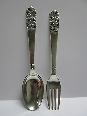2 1931 B & T? 800+ Danish Silver Fork & Spoon Set - 25 AAR Pattern