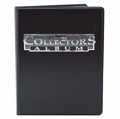 New Ultra Pro 9 pocket portfolio Black with 10 pages Binder Notebook