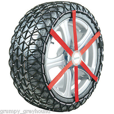 "NEW Michelin Easy Grip Snow Chain Winter Tyre Chains L13 6 42 12 2B 14"" 195/70"