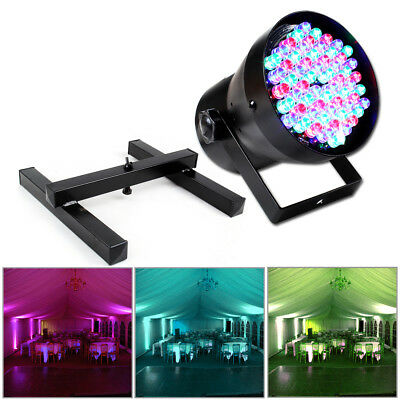 Beamz RGB Colour LED Par Can Party DJ Light + Lighting Floor Stand Disco Package
