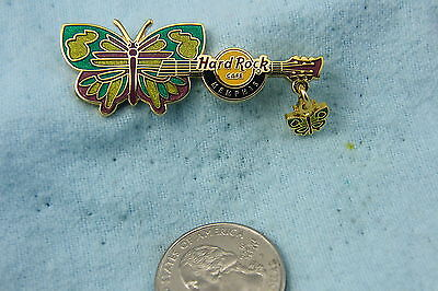 HARD ROCK CAFE PIN MEMPHIS BUTTERFLY GUITAR LE 500