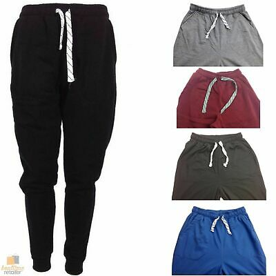 Mens Skinny TRACK PANTS Slim Cuff Trousers Gym Trackies Sport Bottoms Joggers