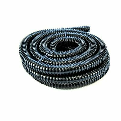 1 inch (25mm) BLACK CORRUGATED FLEXIBLE HOSE FISH POND PUMP MARINE FLEXI PIPE