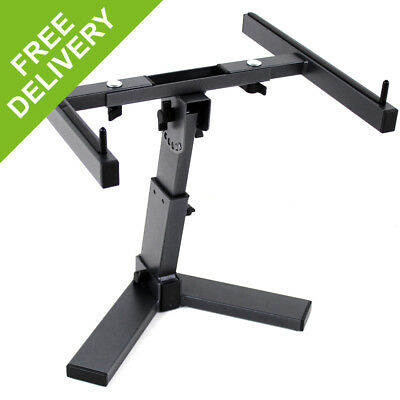 Ekho Black Adjustable Desktop Laptop Mixer DJ Equipment Stand