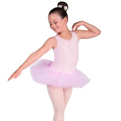 New Lily Girls Ballet Tutu Leotard Ballet Dress Pink White Age 2-12 yrs