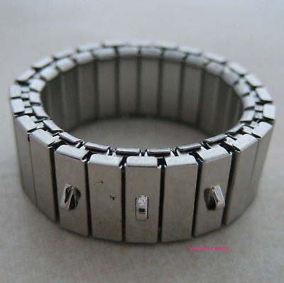 4 stainless steel wide cha cha ring base 3 loops
