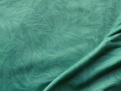 Vintage Cotton Interiors Fabric Green Tapestry Leaf Print