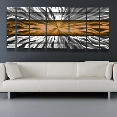 Copper Metal Wall Art Decor Panels Modern Abstract Sculpture Painting Home
