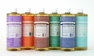 DR. BRONNER`S MAGIC SOAPS - PURE LIQUID CASTILE SOAP 945ml - FREE UK SHIPPING