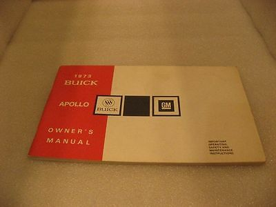 Buick 1973 Apollo - Owner's Manual
