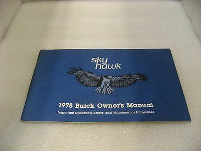 Buick 1978 Skyhawk - Owner's Manual