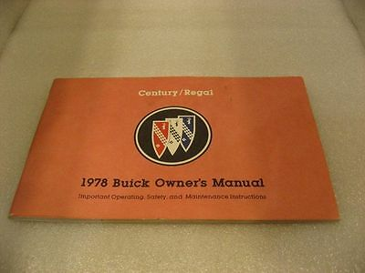 Buick 1978 Century/Regal - Owner's Manual