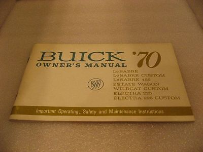 Buick '70 LeSabre/Estate/Wildcat/Electra - Owner's Manual