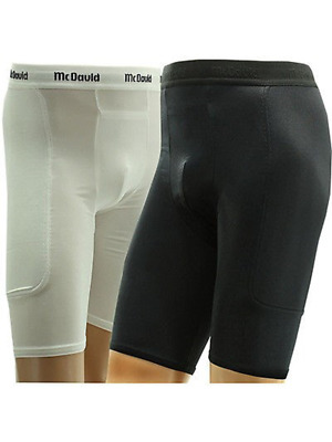 McDavid 721C 2XL Padded Sliding Shorts W/ Cup Pocket Black Mens Adult XX-L