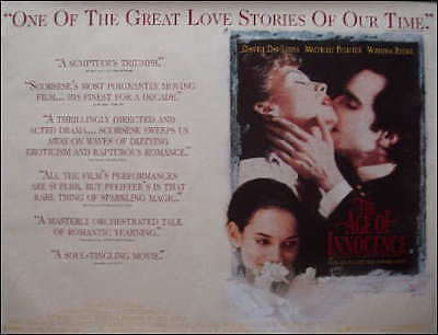 Movie Poster: The Age Of Innocence Quad Daniel Day Lewis 1993