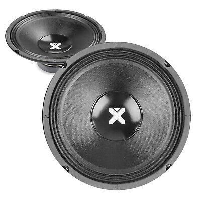 "2x Skytec SPSL10 10"" Spare Replacement PA Speaker Chassis Drivers 1000W"