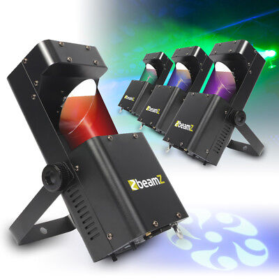 4x Beamz RGBW LED Mobile DJ Disco Party Scanner Lights Club GOBO Lighting