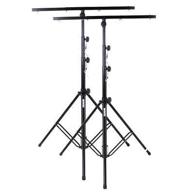 2x Ekho Professional Steel Adjustable Tripod DJ Disco Party Lighting Stands