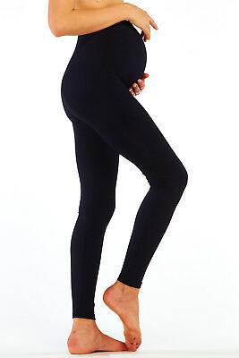 Maternity Leggings Full Ankle Length Over Bump Pregnancy Stretch Pants Soft Warm
