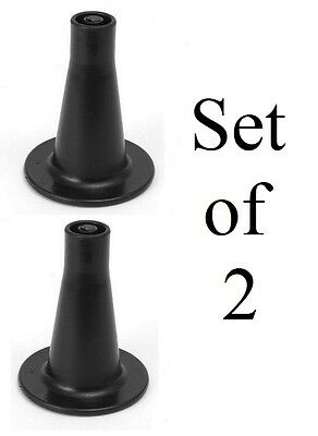 """3 5/8"""" Tall/High Replacement Bed Frame Feet/Glide Set of 2 - Black"""