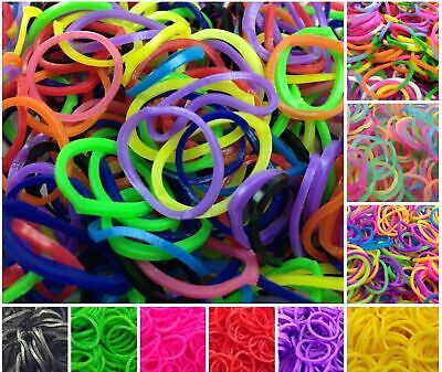 2400 LOOM BANDS Rubber Refill Kit DIY Magical Bracelet 96 S Clips, 8 Hooks New