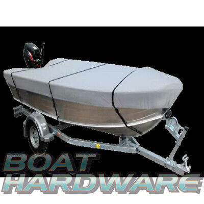 Open BOAT Tinnie Dinghy COVER 3.5to3.7m V Hull Water UV Resistant 280gsm Canvas