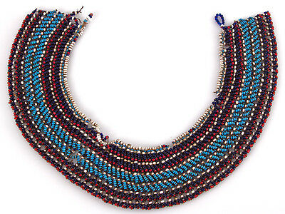 c1880 South African Zulu Beaded Necklace