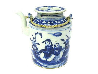 c1860 Traditional Chinese Blue and White Teapot