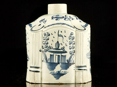 c1780 English Pearl Creamware Chinese Style Tea Caddy