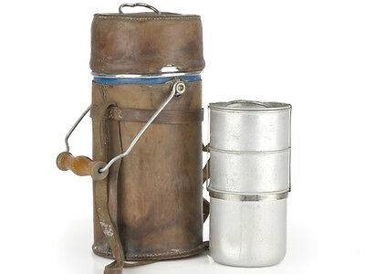WWII British/Indian Officer Leather Covered Canteen