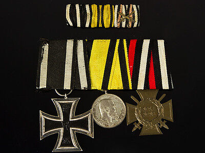 WWI German Württemberg Iron Cross Group 3 Medals